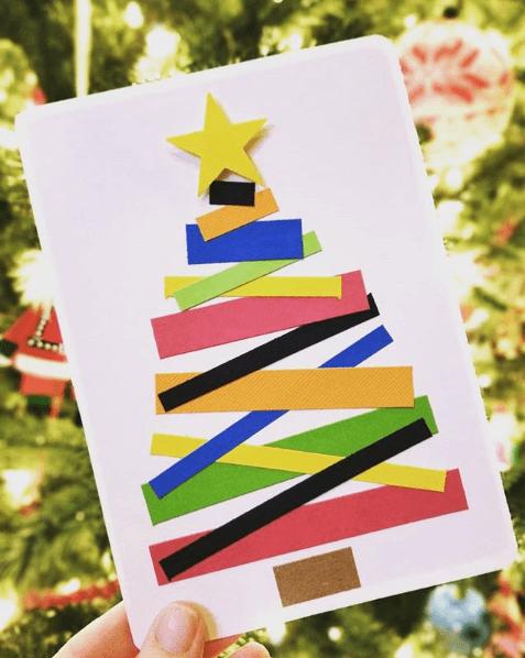 Tarjetas de Navidad 2020 Artesanales papel regalo