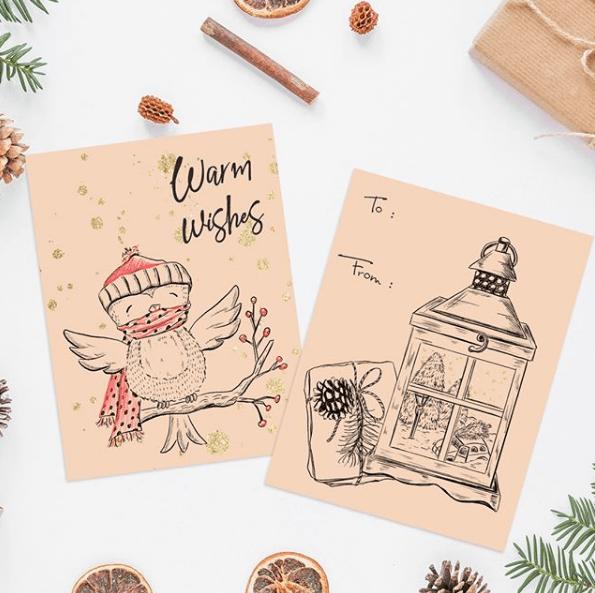 Tarjetas de Navidad 2020 Artesanales dibujos pro