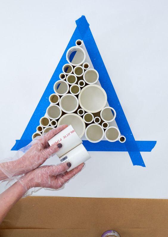 Cómo hacer un árbol de navidad con material reciclado tubos pvc