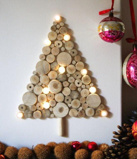 Cómo hacer un árbol de navidad con material reciclado troncos