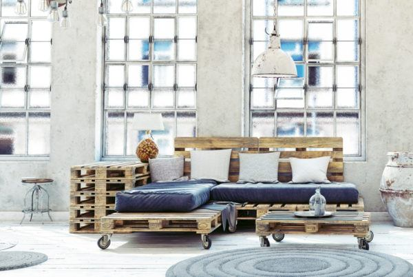 Como hacer un sofa comodo de palets cojines