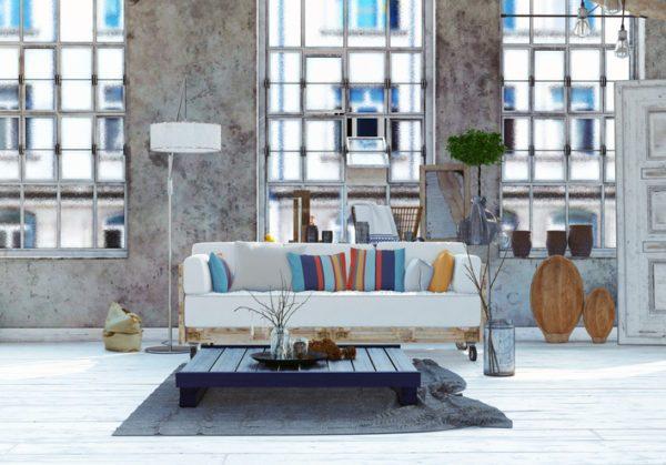Como hacer un sofa comodo de palets deco