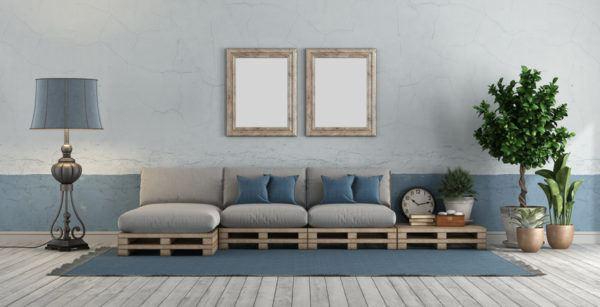Como hacer un sofa comodo de palets economico