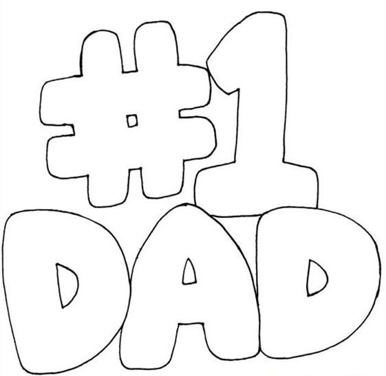 Dibujos para colorear para el Día del Padre el 1