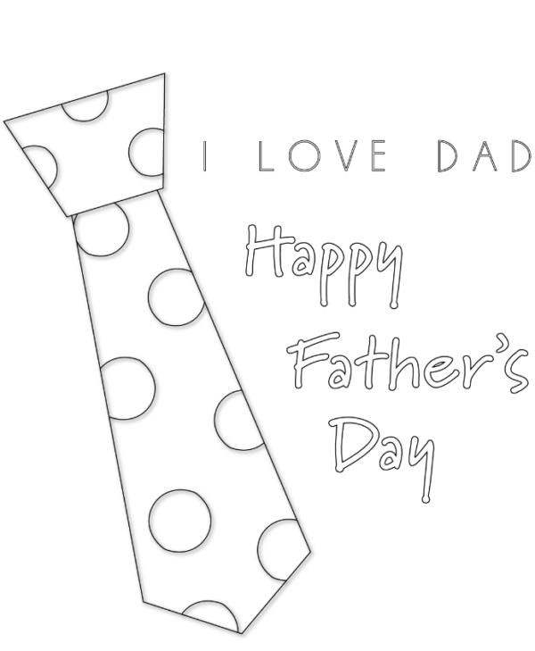 Dibujos para colorear para el Día del Padre corbata