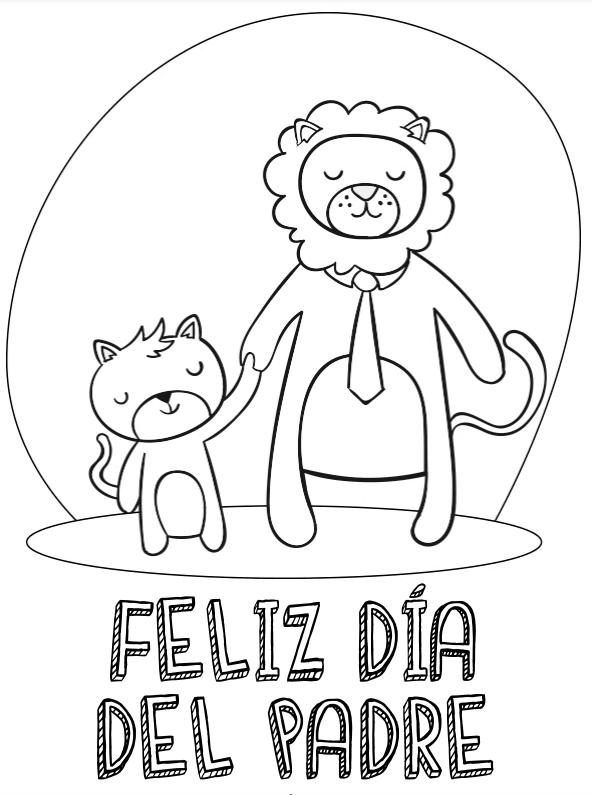 Dibujos para colorear para el Día del Padre animales
