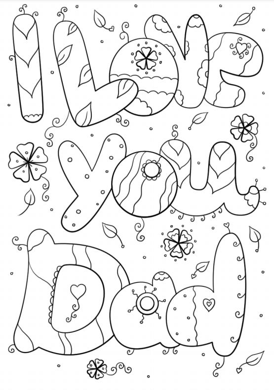 Dibujos para colorear para el Día del Padre collage