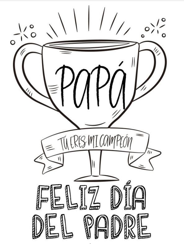 Dibujos para colorear para el Día del Padre copa