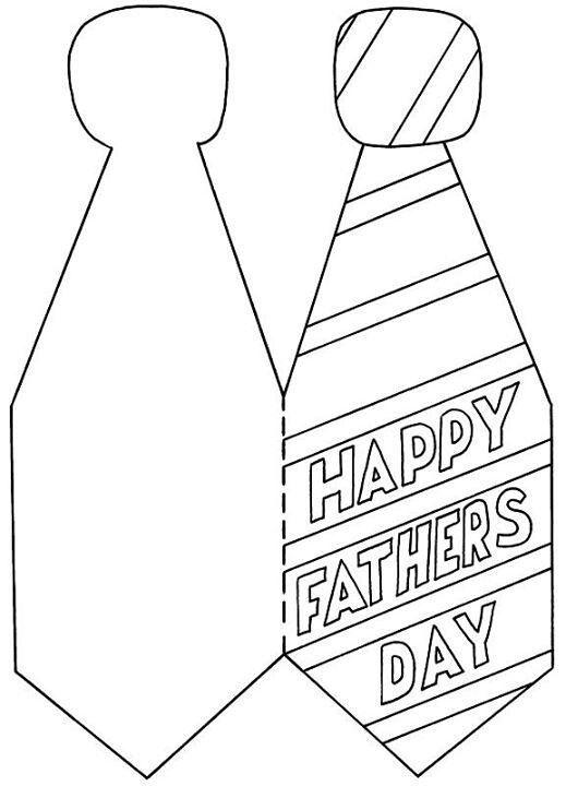Dibujos para colorear para el Día del Padre corbata feliz