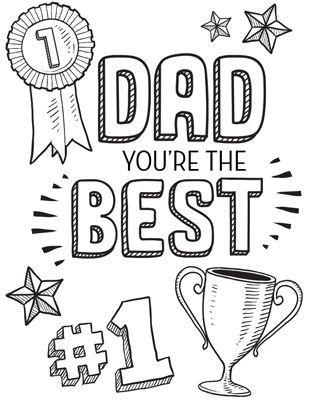 Dibujos para colorear para el Día del Padre copa best