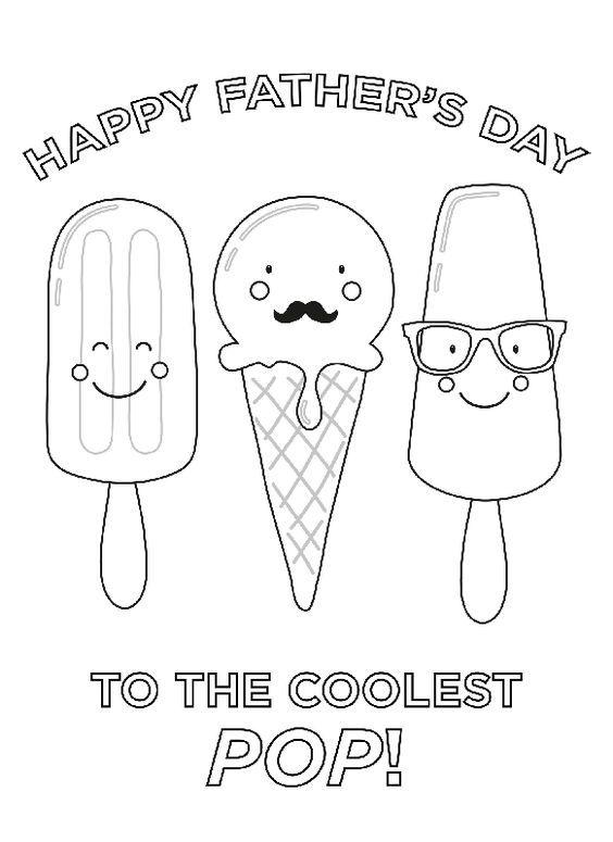 Dibujos para colorear para el Día del Padre helados