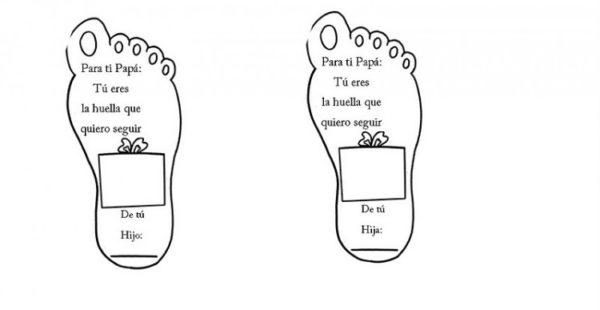 Dibujos para colorear para el Día del Padre pies