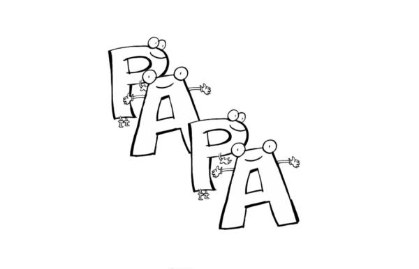 Dibujos para colorear para el Día del Padre letras