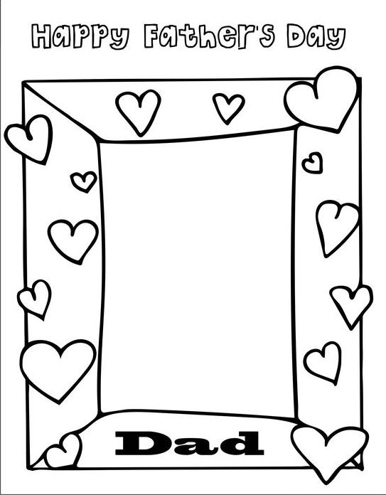 Dibujos para colorear para el Día del Padre marco