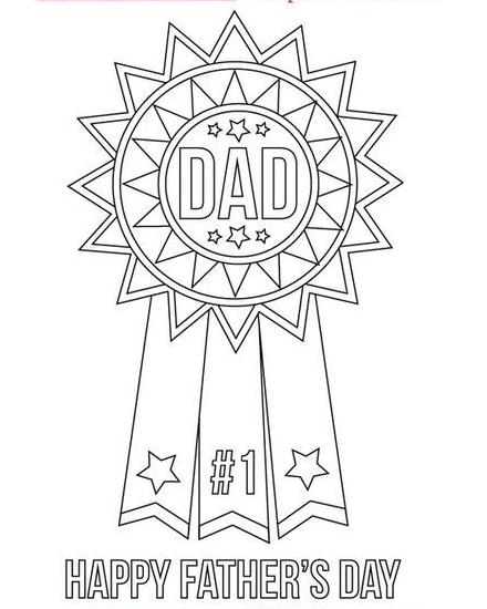 Dibujos para colorear para el Día del Padre medalla
