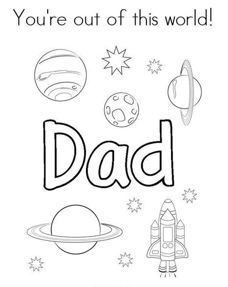Dibujos para colorear para el Día del Padre dad espacio