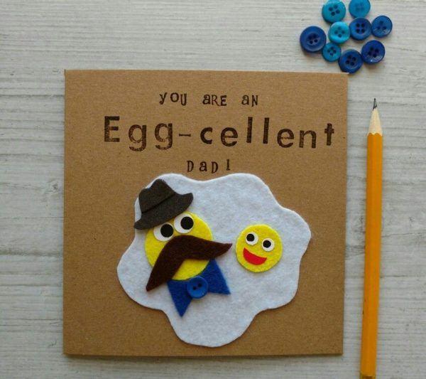 Tarjetas para el Día del Padre con materiales reciclados Eggcelent
