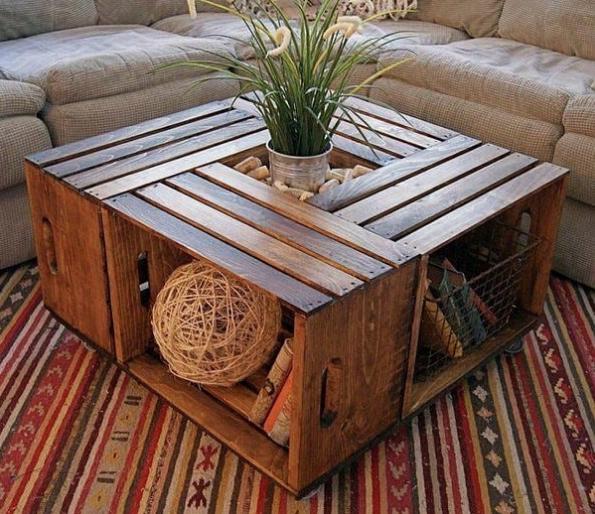 Palets baratos o gratuitos mesa terraza DIY