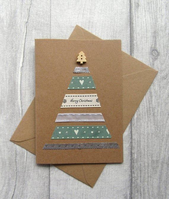 Tarjetas de navidad elegantes con carton reciclado