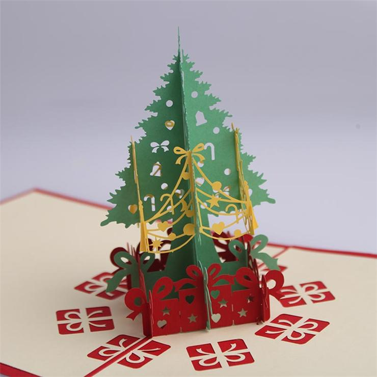 Tarjetas de navidad elegantes manualidades 3D