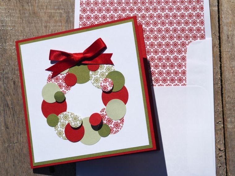 Tarjetas de navidad elegantes manualidades con cartulina