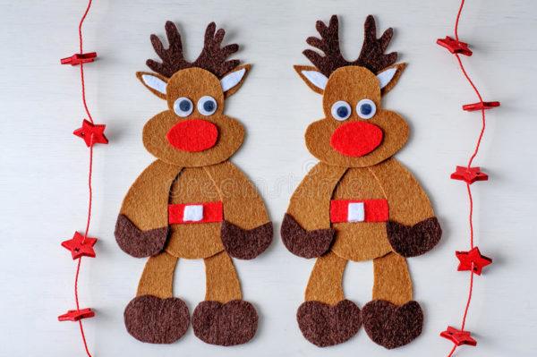 Tarjetas de navidad elegantes manualidades con forma de reno