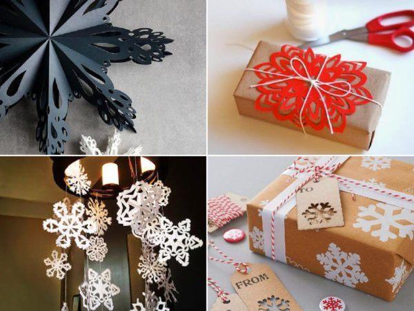 Cómo hacer copos de nieve de papel en Navidad portada