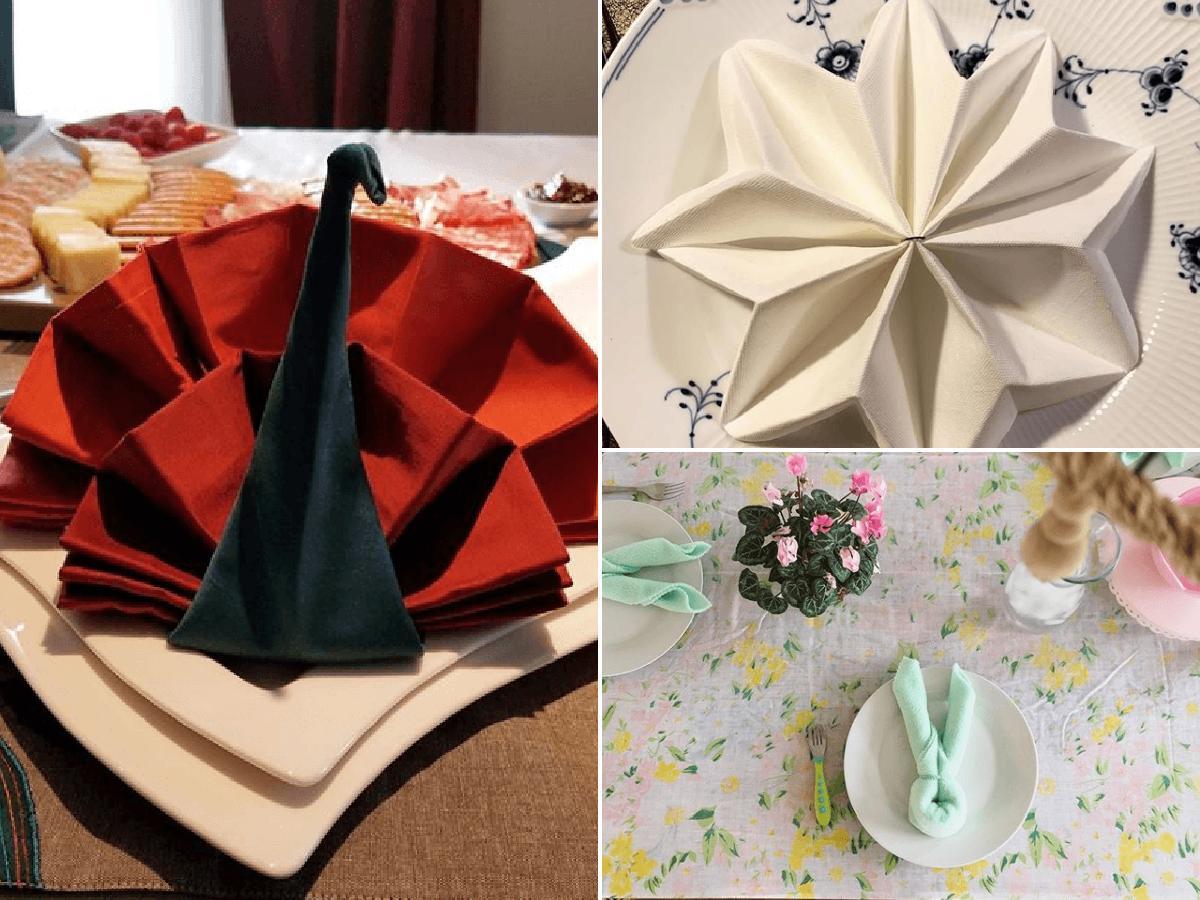 5 Formas Originales De Doblar Servilletas Para Decorar Una Mesa Bricolaje10 Com
