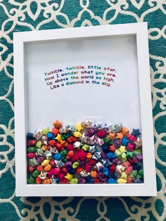 Fotos con ideas para Regalos de amigo invisible hechos a mano marco estrellas
