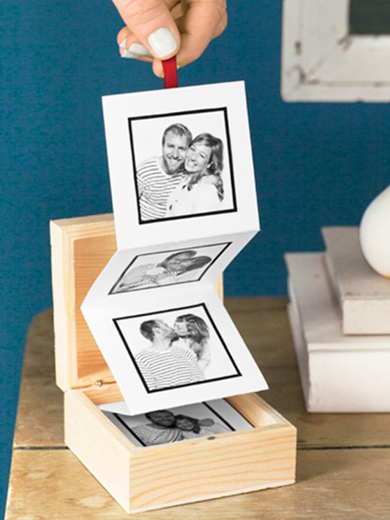 Fotos con ideas para Regalos de amigo invisible hechos a mano caja nostalgia