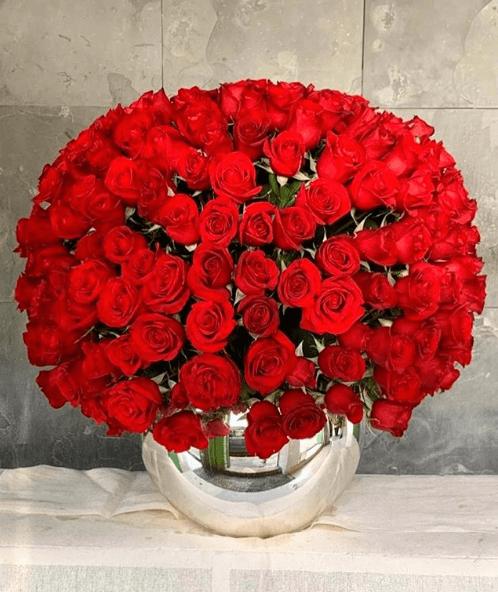 Centro de Mesa de Navidad 2020 rosas rojas