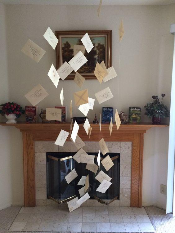 Manualidades de Harry Potter fáciles para hacer con niños cartas voladoras