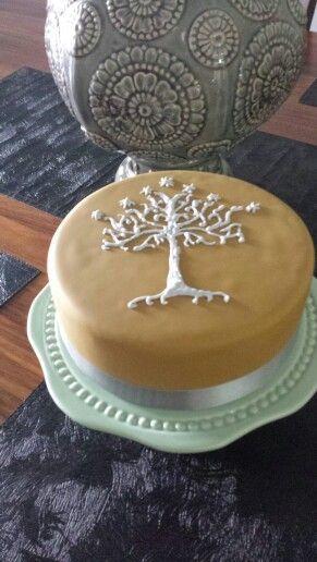 Manualidades de El Señor de los Anillos tarta Árbol Blanco de Gondor