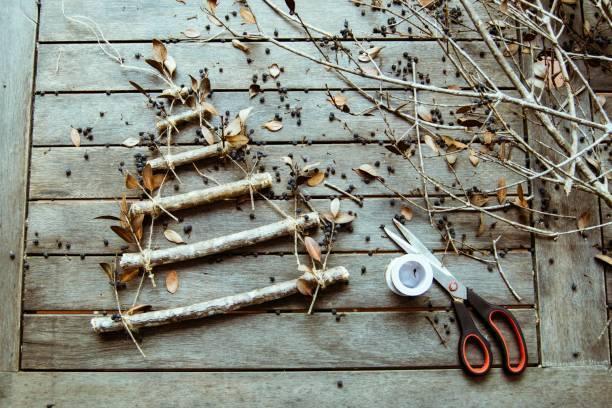Arboles de navidad 2020 2021 diy manualidades originales ramas gruesas