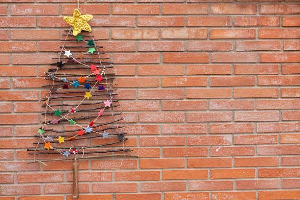 Arboles de navidad 2020 2021 diy manualidades originales ramitas exterior