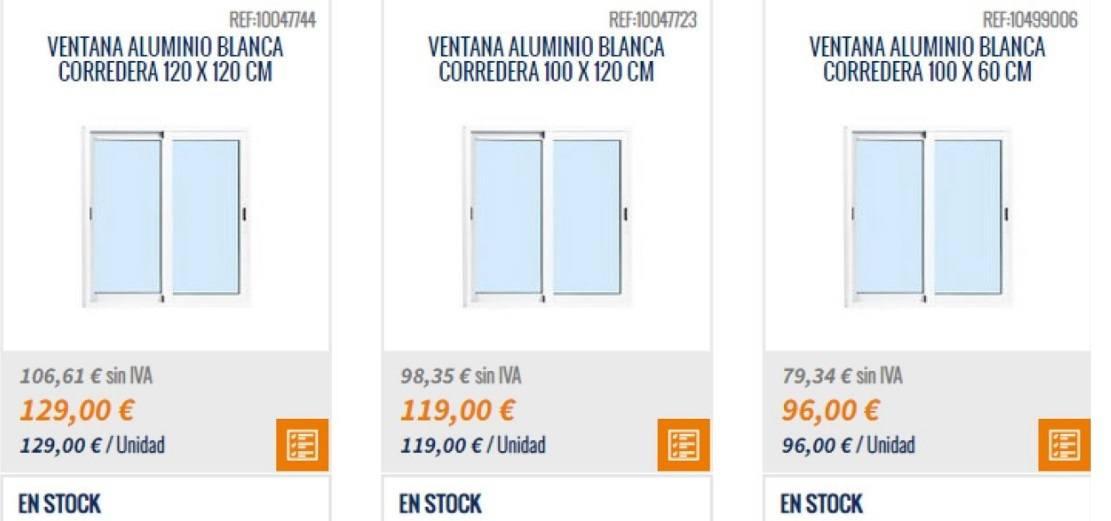 Catalogo Bricomart 2021 FOTOS ventana aluminio blanca corredera