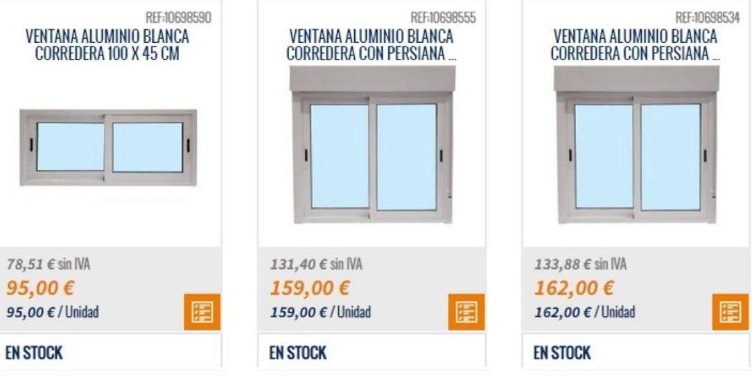Catalogo Bricomart 2021 FOTOS ventana aluminio blanca