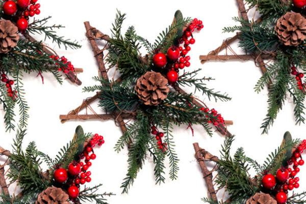 Centros de navidad low cost 2020 como hacer ramas velas