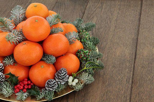 Centros de navidad low cost 2020 originales mandarinas