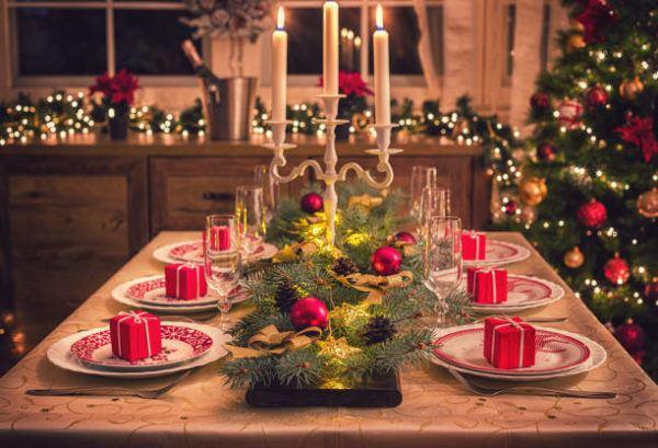 Centros de navidad low cost 2020 velas candelabro