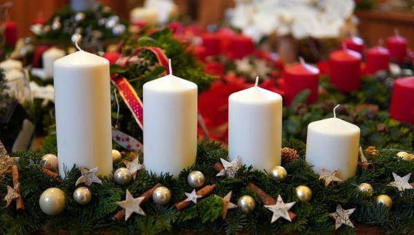Centros de navidad low cost 2020 velas distintos tamaños