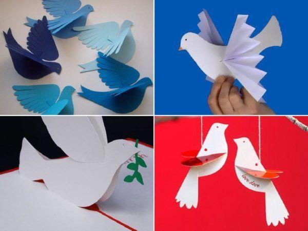 Cómo hacer palomas de papel en Navidad portada
