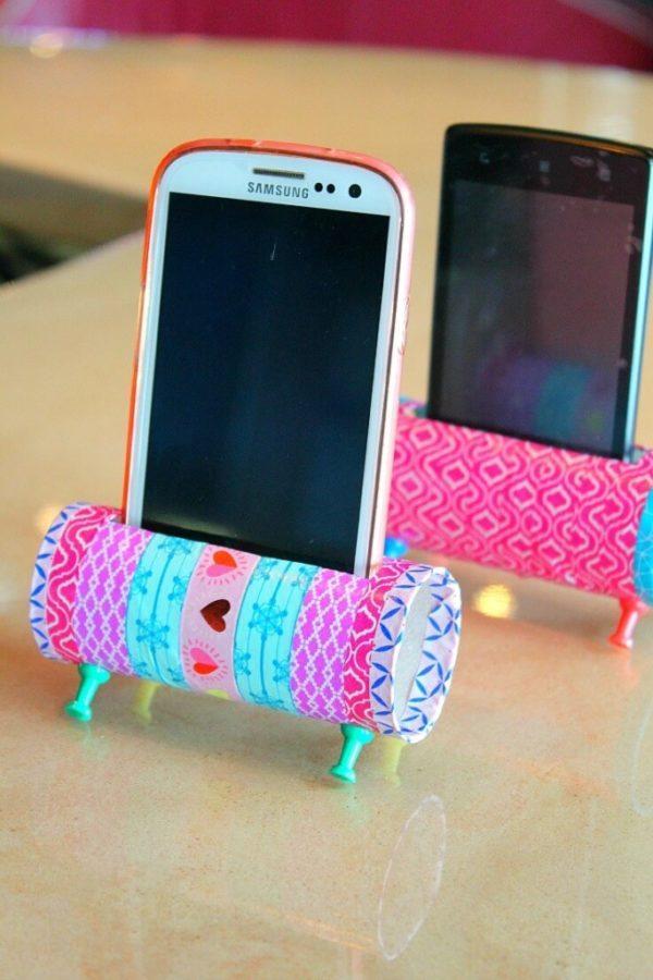 20 ideas para hacer manualidades con rollos de papel adultos soporte móviles