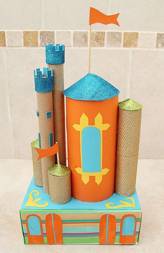 20 ideas para hacer manualidades con rollos de papel cocina castillo