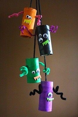 20 ideas para hacer manualidades con rollos de papel Halloween