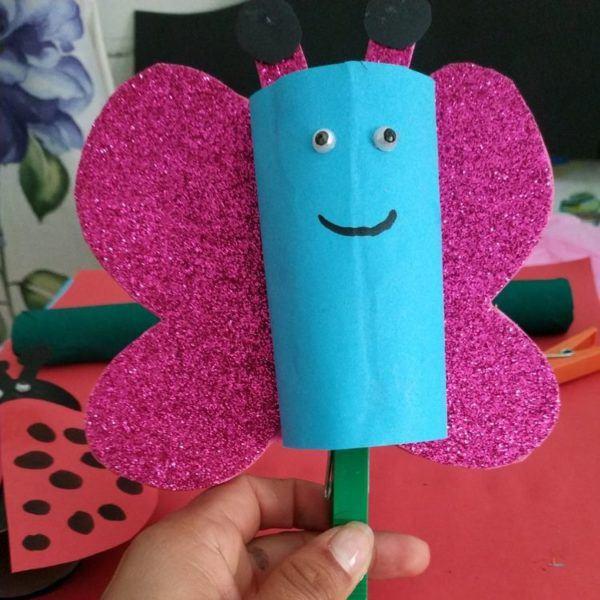 20 ideas para hacer manualidades con rollos de papel mariposa
