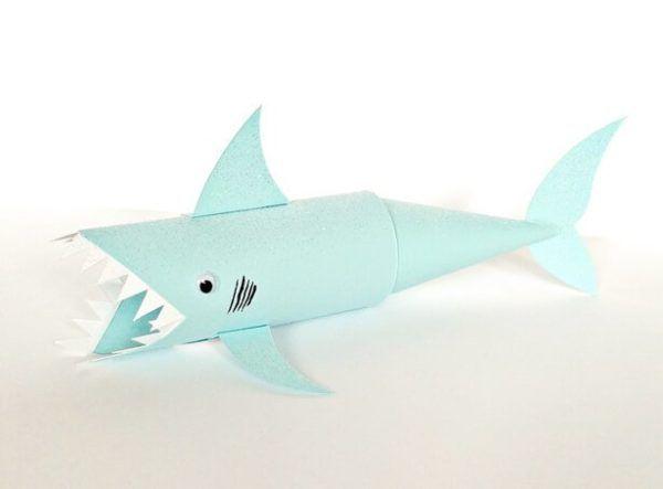 20 ideas para hacer manualidades con rollos de papel tiburón
