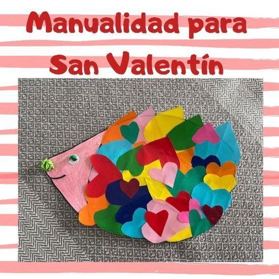 Manualidades para San Valentín de erizo