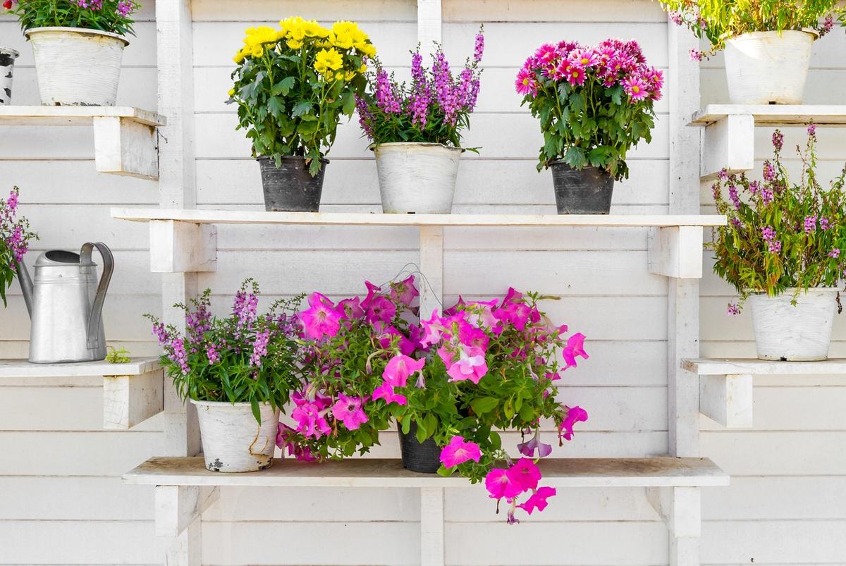 FOTOS mejores ideas para hacer muebles madera reciclada jardinera blanca