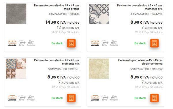 Catalogo bricomart anual CERAMICA pavimento porcelanico